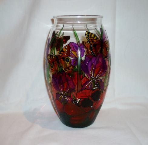 Hand_Painted_Glass-Iris_Poppy_Butterfly_Vase.JPG